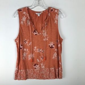 Lucky Brand Floral V-neck Tank Top #713